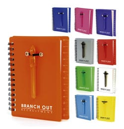 27 - Spiral Bound Ruler Notebook with Ballpen