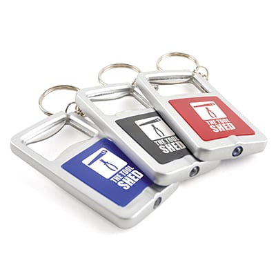 EC0067 GROUP - Bottle Opener/LED Light Keyring