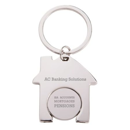 House Shaped Trolley Coin Keyrings new 450x450 - House Trolley Coin