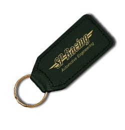 M11021 Large Rectangular Leather Keyfob - Large Rectangular Shaped Leather Keyfob