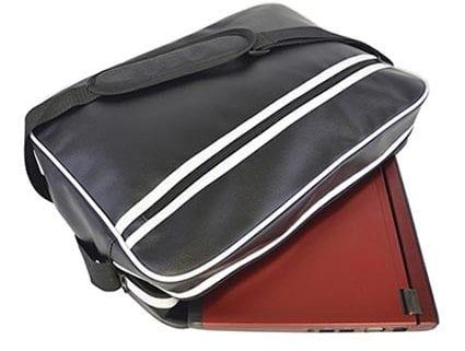Retro Style Zipped Laptop Bags Black Open TM  425x321 - Messenger Tablet Bag