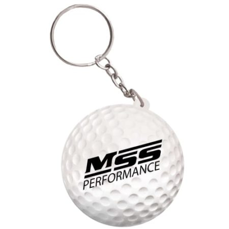 s0167 07 stress golf ball keyring v1 450x450 - Golf Ball Stress Toy Keyrings