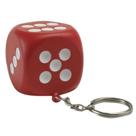 s1059 02 dice keyring v1 450x450 - Dice Stress Toy Keyrings