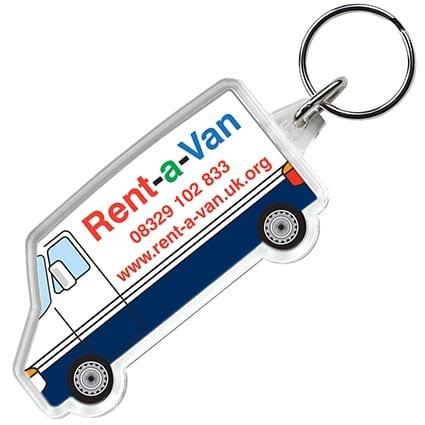 shaped keyring van1 1 - Van Shaped Acrylic Keyring