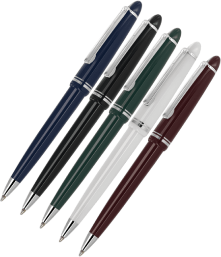Alpine Chrome Ballpen Family 450x523 - Alpine Silver Trim Ball Pens