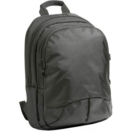 black greenwich laptop backpack1 - Greenwich Laptop Backpack