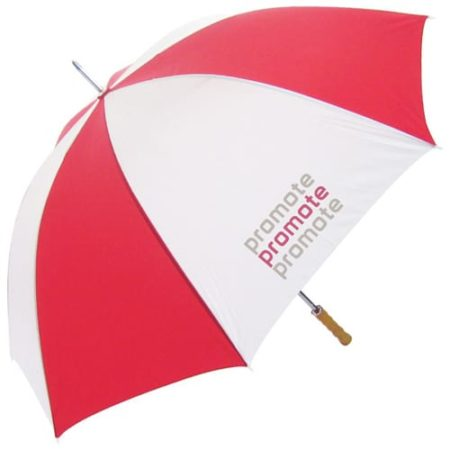 Promo Budget Golf Umbrella redwhite new 450x450 - Budget Golf Umbrella