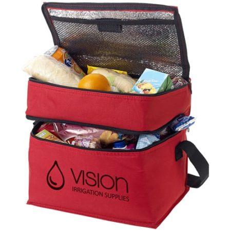 2 Section Cooler Bag red new 450x450 - 2 Section Cooler Bag