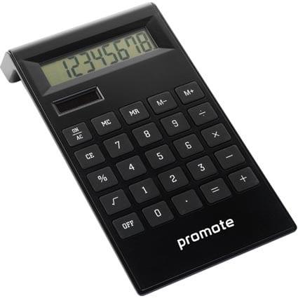 Dual Powered Desk Calculators Black Branded TM  - Dual Power Desk Calculator