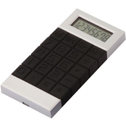 Rubber Button Calculators Black TM  - Rubber Button Calculator
