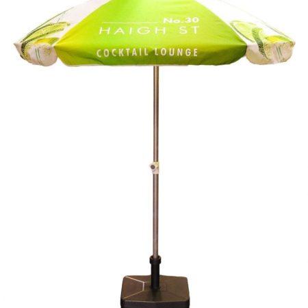 4PAS Aluminium20parasol upright 450x450 - Personalised Square Aluminium parasol