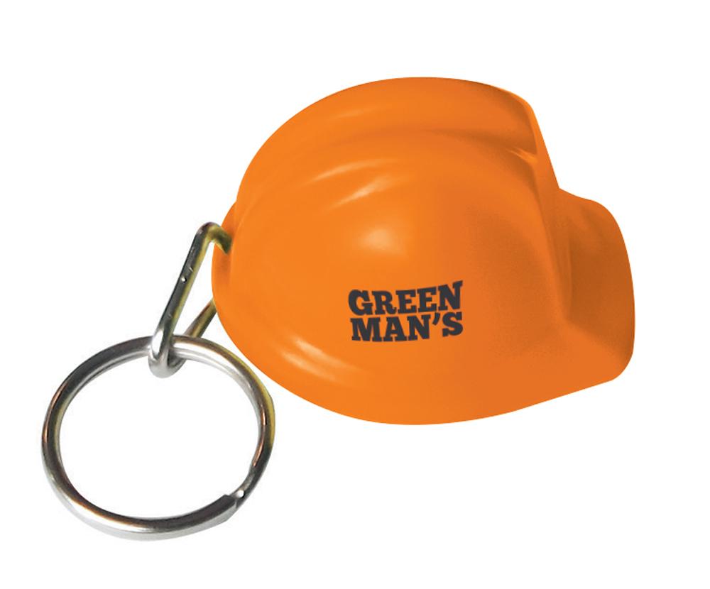 8448 orange - Hard Hat Keyring