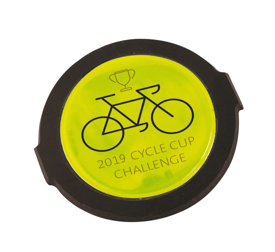 8547 yellow - Hi-Vis Spoke Clip