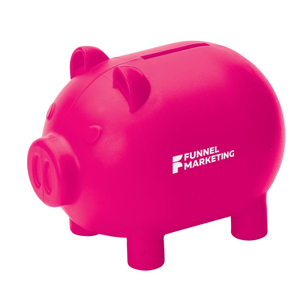 8953 pink - Small piggy bank