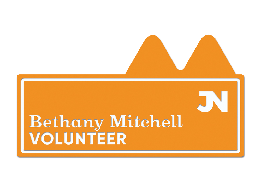 9206 orange - Name Badge - Individual