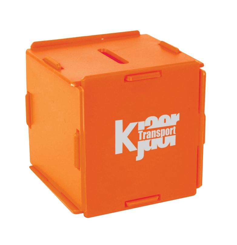 9806 orange - Square Money Box