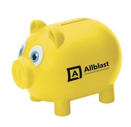 9996 yellow 1 450x434 - Personalised Money Pig
