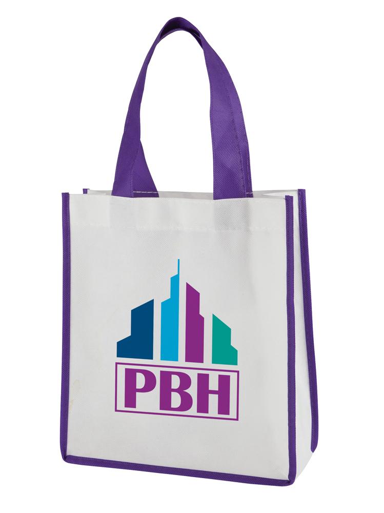 BA1452 purple - Contrast Mini Shopper
