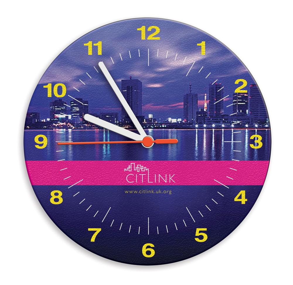 BR1203 - Square Brite-Clock Wall Clock