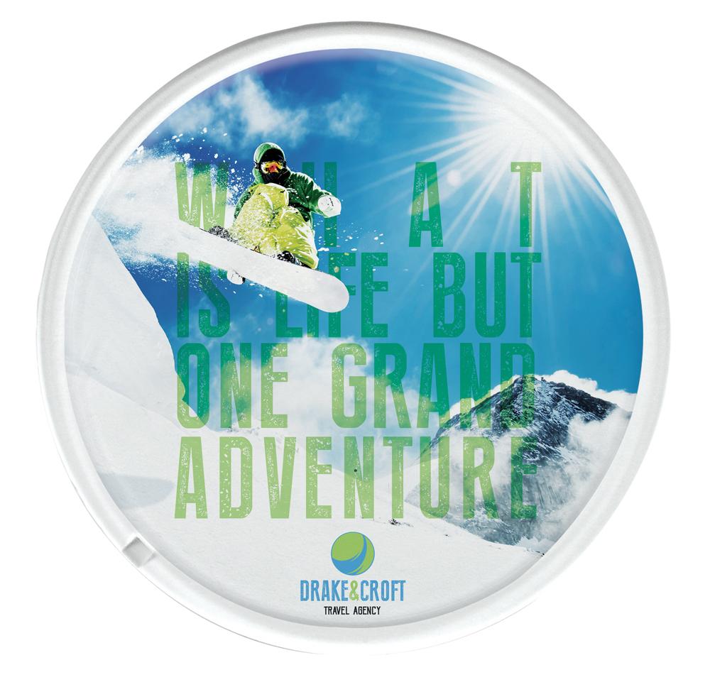 DE0001 - Round Plastic Coaster