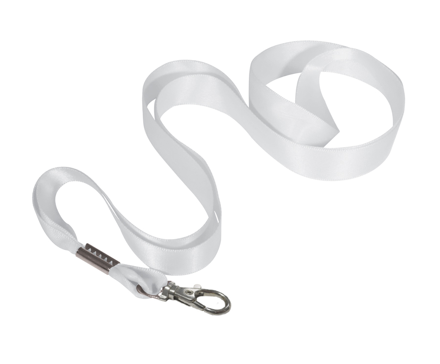 ID0001 white - Ribbon Lanyard