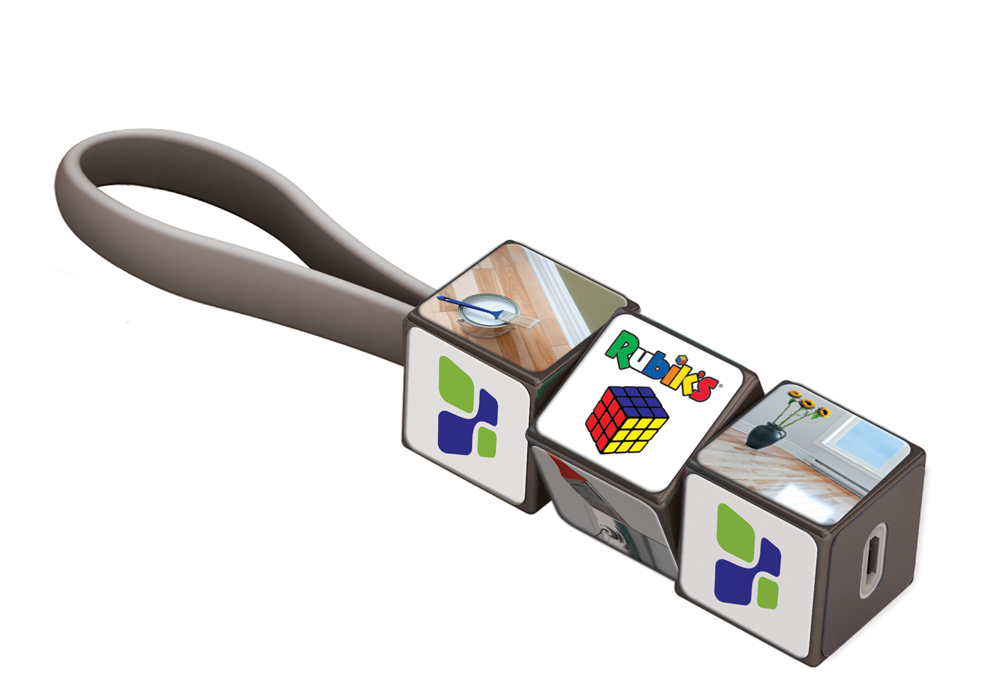 IT1801 a - Rubik?s Mobile Charging Cable Set