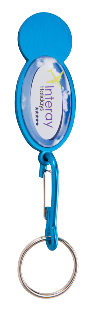 KY4544 cyan - Shopper Trolley Coin Keyring