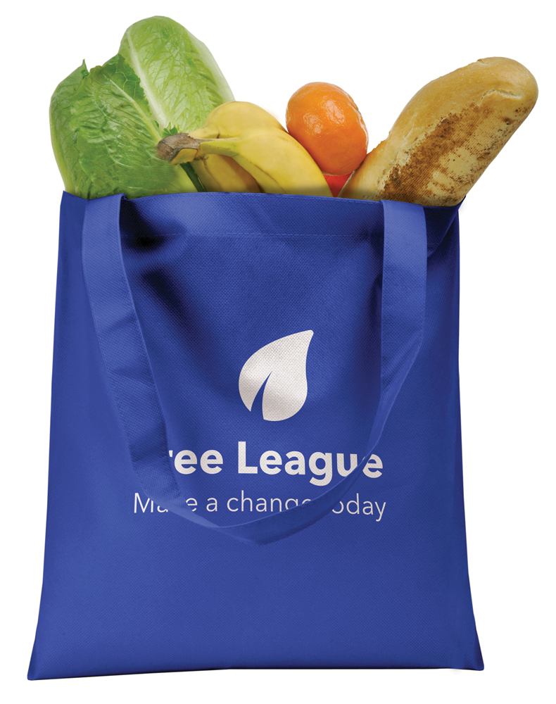 LE9549 blue - Budget Cotton Shopper Tote Bags