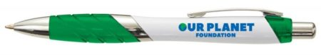 PE1495WH green 1 450x78 - Personalised Orlando White Ballpen