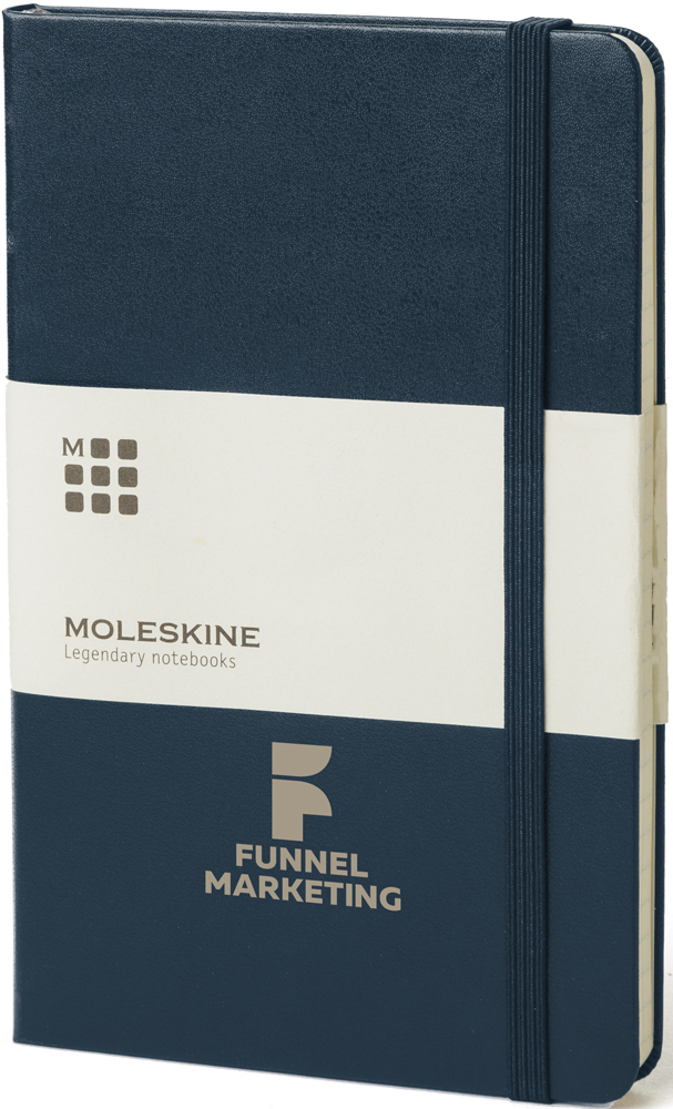 QP050 blue - Classic Medium Hard Cover Notebook - Ruled