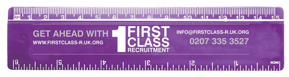 RU0002 purple - 15cm Solid Plastic Ruler