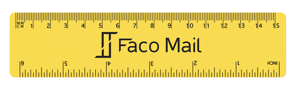 RU1500 yellow - 15cm PP Colour Ruler