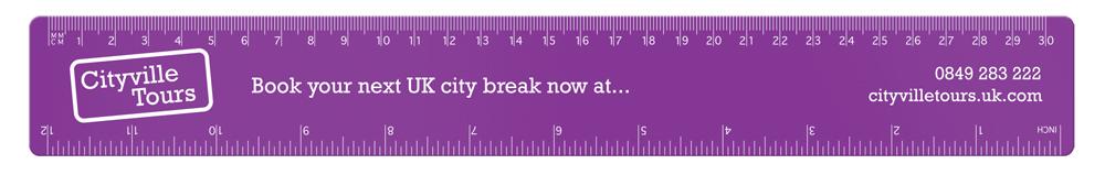 RU1502 purple - 30cm PP Colour Ruler