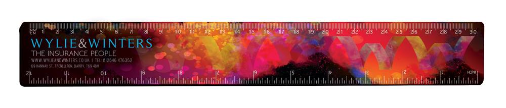 RU1700 red - 30cm Ruler