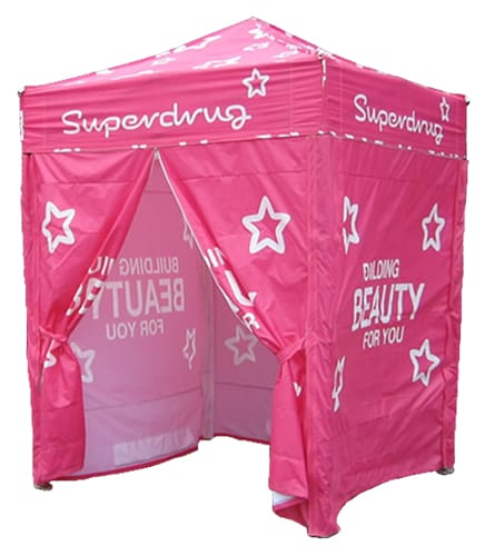 upright 1GAZ 1 - 2m x 2m Gazebo Including x3 Side Walls