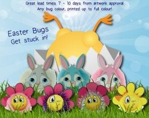 easterbug 300x237 - Spring into Easter with our Colourful range of Easter Characters